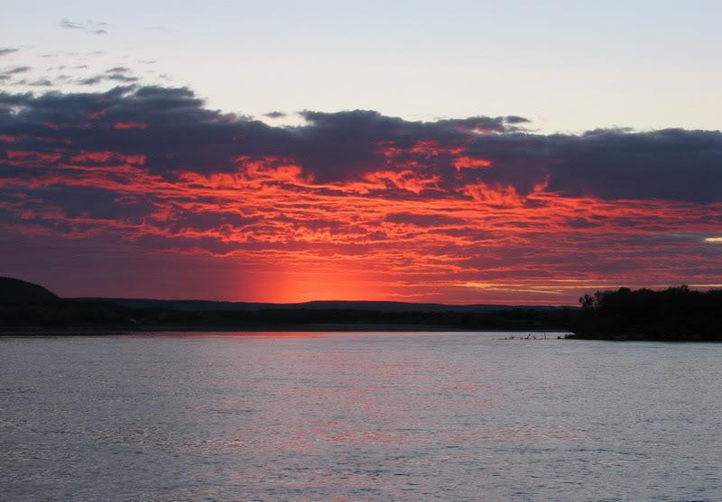 Усть-Кут.RU : Красивый закат на Табагинском мысе