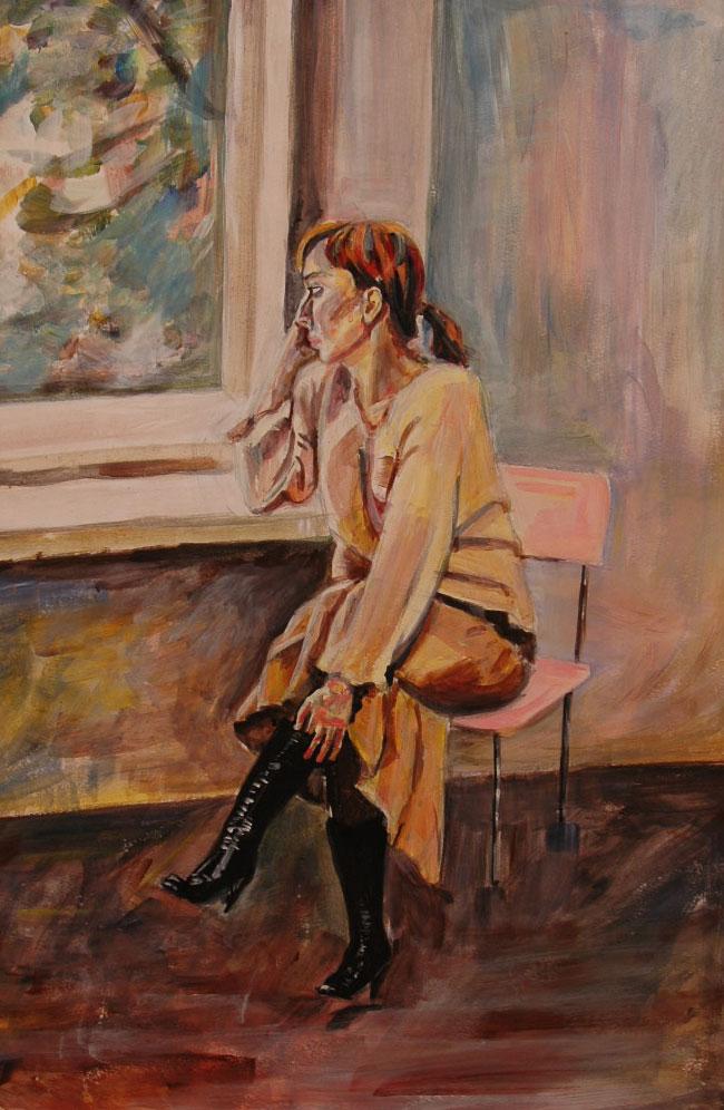 Усть-Кут.RU : Скучающая девушка у окна