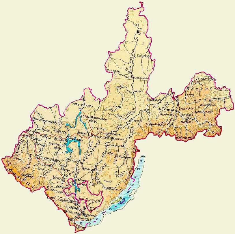 Усть-Кут.RU : Географическая карта