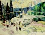 """""""Десант на БАМе"""" Худ. В.М. Мироненко, 1974 г."""