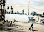 """""""Грибной дождь в п. Магистральном"""" Худ. Л.Б. Гимов, 1978 г."""