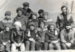 бригада шпалоцеха Рая (тогда Пазюк) - Воробьёва вторая в первом ряду справа