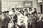 коллектив типографии в день свадьбы одной из его работниц