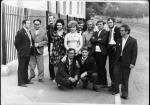 группа журналистов-выпускников Иркутского госуниверситета 1976 года (четвертый слева в верхнем ряду А.Я. Глушков).  Фото из альбома А.С. Попова