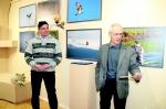 Автор Павел Жовтюк и спонсор выставки В.М. Вишняков