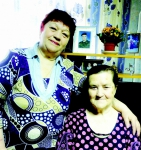 Г.С. Мешкова с племянницей Татьяной