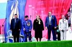Участник войны И.И. Алексеевский весь парад провёл стоя