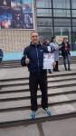 Евгений Сажин, победитель I этапа